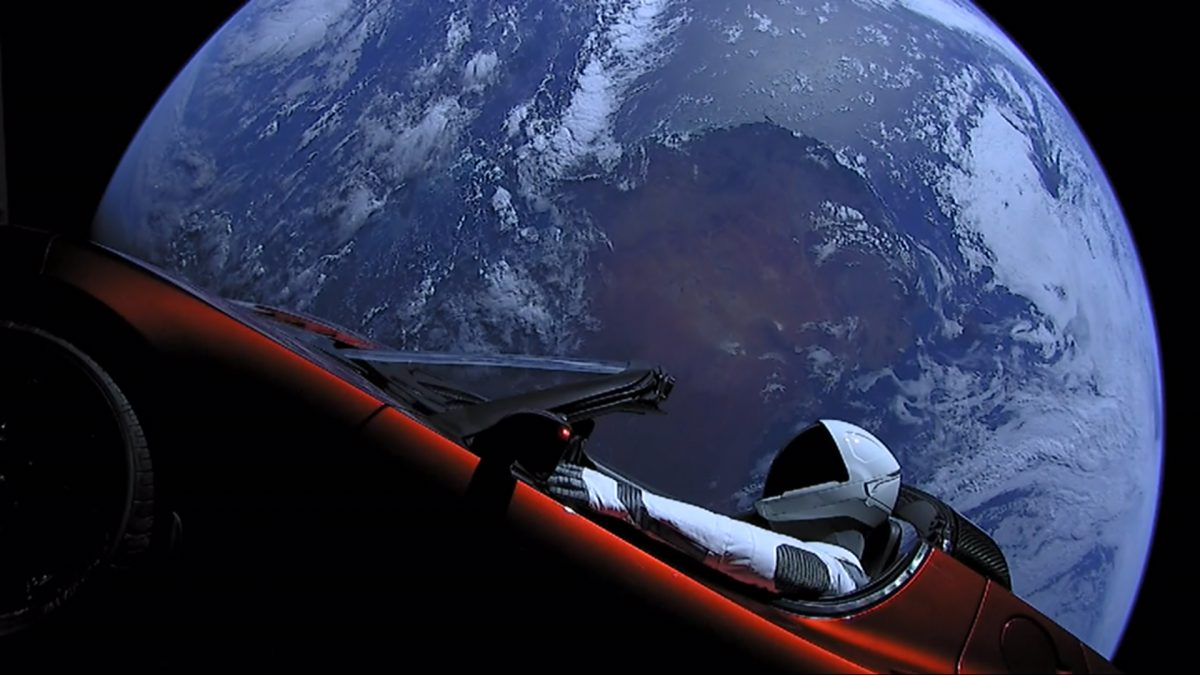 Starman Tesla Motors en SpaceX