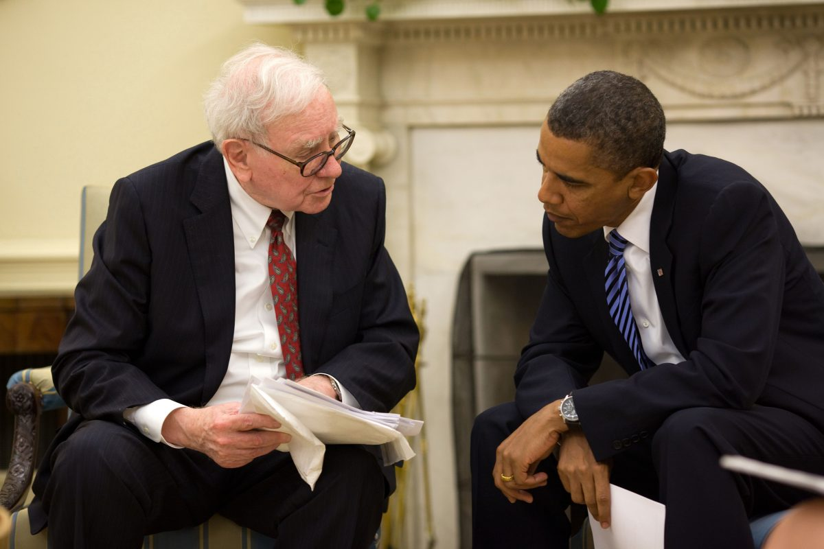 Warren Buffet met Barrack Obama